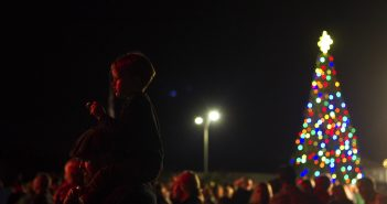 Hundreds gathered in Wrightsville Beach Park on Friday evening for the annual tree lighting ceremony and visit with Santa.