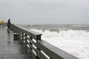 Lumina News file photo. Waves created by Hurricane Matthew pound Wrightsville Beach Oct. 8, 2016 at Crystal Pier.