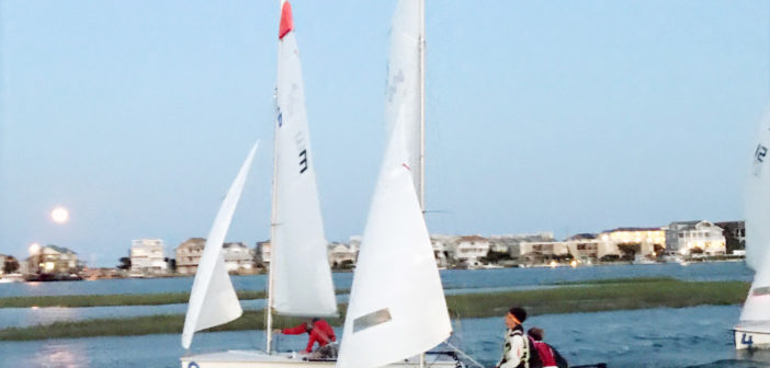 Yacht club race team preps for season with Wrightsville Beach night sail