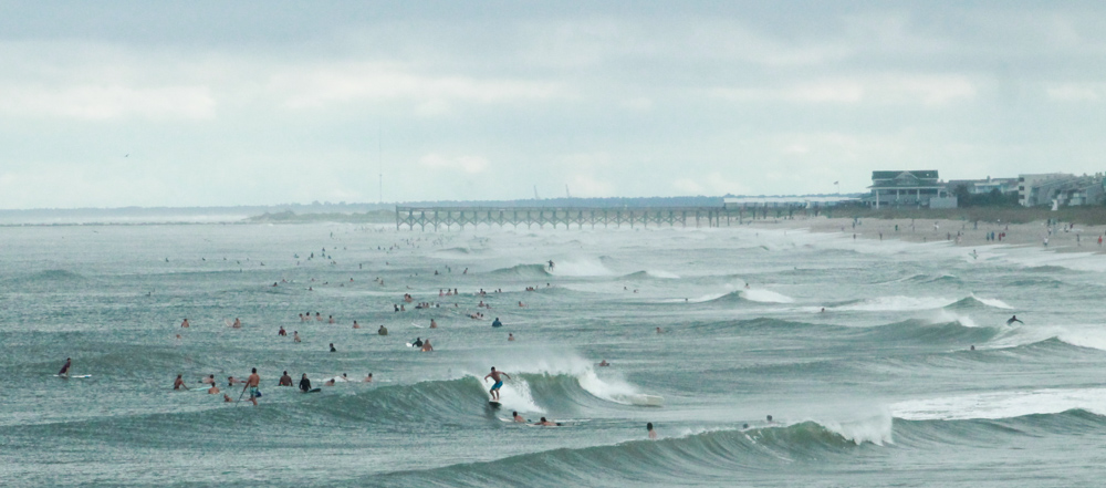 Wrightsville Beach Earlier This Week Gave To Gly Conditions And Waves Estimated Be Chest Head High At Some Points On Tuesday Aug 29