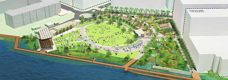 wilmington north waterfront park design complete construction to