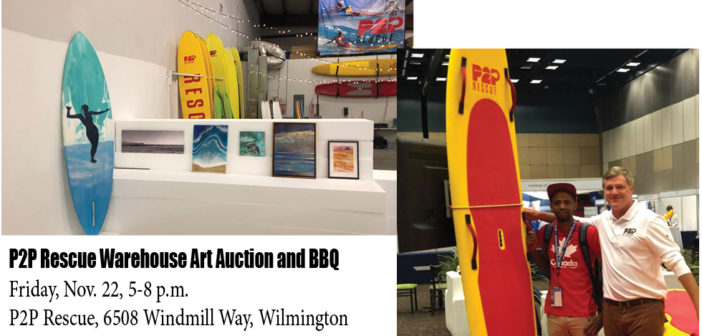 Local board maker P2P Rescue opens doors to new warehouse for Friday art party fundraiser and BBQ for Surfers Healing